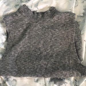 Grey Sleeveless turtleneck